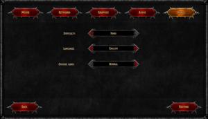 In-game bonus settings.