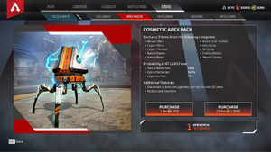 An 'Apex Crate' from Apex Legends.