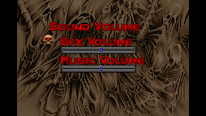 In-game audio settings (for Doom/Doom II).