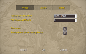 Video settings (HD Remaster).