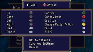 Controller rebinding with default keys.