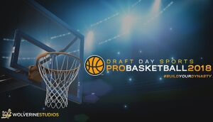 Draft Day Sports: Pro Basketball 2018 cover