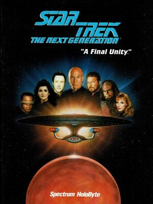 Star Trek: The Next Generation - A Final Unity cover