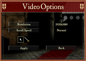 Video settings (HD version).