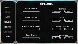 Options menu.