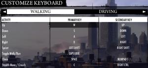 In-game keyboard bindings.