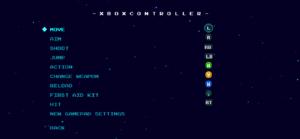 Gamepad bindings (Xbox button layout).