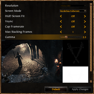 In-game display settings.
