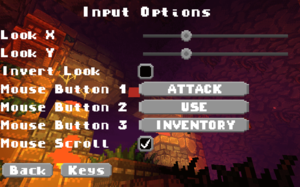 General input settings.
