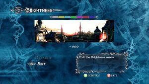 Brightness settings