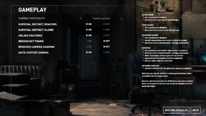 In-game general settings (Steam version).