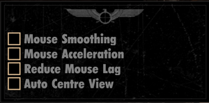 Mouse-specific settings.
