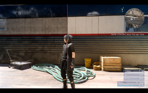 In-game screenshot showing graphical issues on the left and correct rendering on the right.