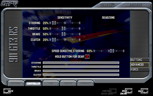 In-game advanced input settings.