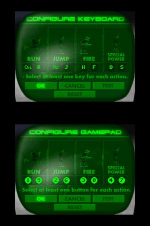 Control options menus.