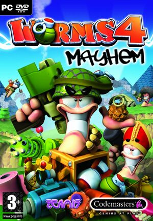 Worms 4: Mayhem cover