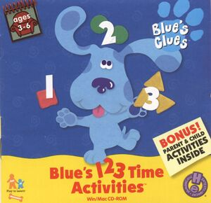 Blue's 123 Time Activities cover