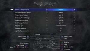 Gamepad bindings (DualShock 4 layout).