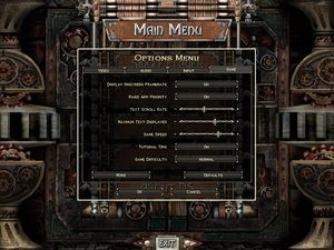 General settings for Dungeon Siege.