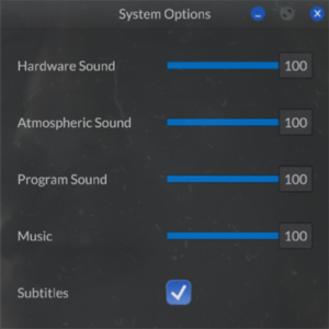In-game system settings.