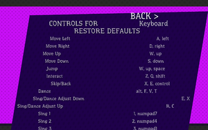 Keyboard settings.