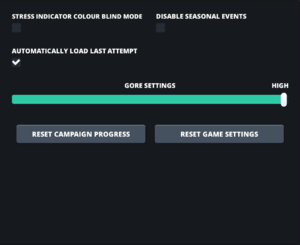 In-game other settings.