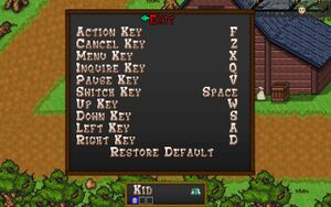 In-game keyboard remapping.