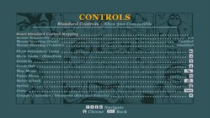 Controls list.