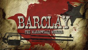Barclay: The Marrowdale Murder cover