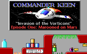 Commander Keen in Marooned on Mars cover