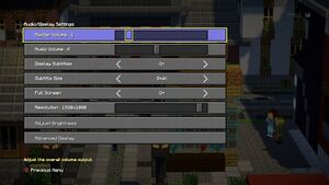 Video and audio settings.