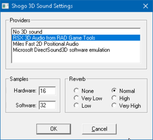 Audio Settings in Launcher.