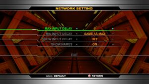 Network settings.