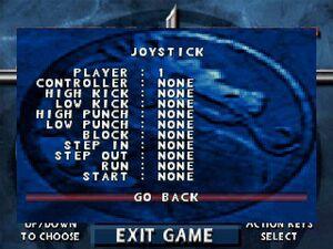 Joystick/Controller Settings