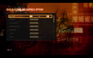 In-game general settings (1/3).