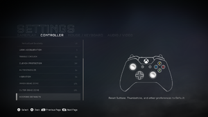 In-game gamepad settings (2/2).