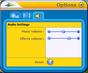In-game audio configuration.