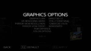 Graphics Options