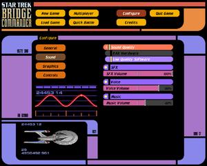 Sound settings menu screenshot.