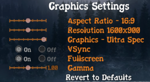Graphic settings