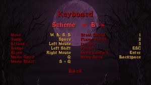 Keyboard scheme B