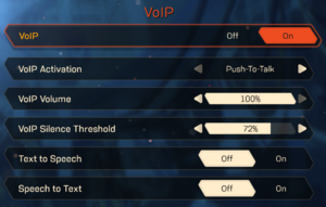 VoIP settings