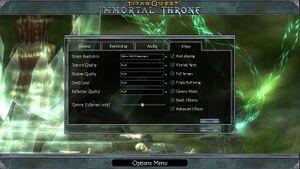 Immortal Throne settings.