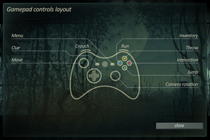 Gamepad controls layout.