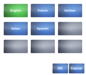Language settings in launcher.