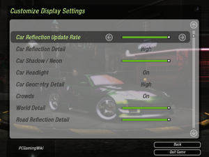 Advanced video settings