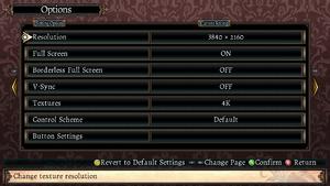 PC Settings menu.