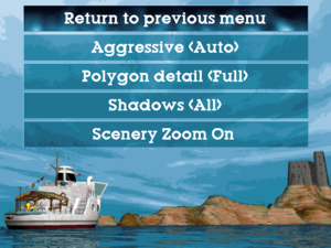 In-game advanced options menu.
