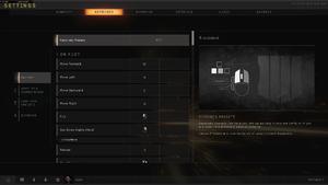 In-game Input Settings