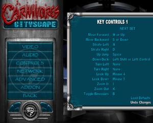 Keymapping options menu.